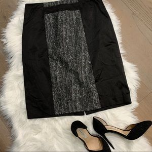 Adrienne Vittadini Black & Silver Pencil Skirt 10